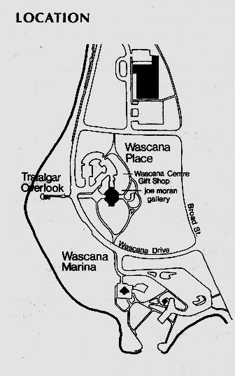 Wascana Place Location  Map